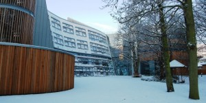 Berrick Saul Building in snow  by Matt Cornock